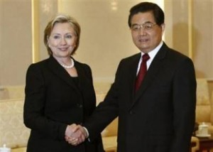 Hillary in China