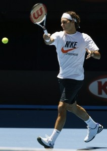 The good old classic Federer forehand