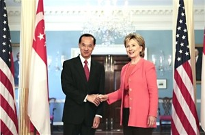 Singapore's George Yeo honored by Hillary
