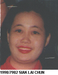 Ms. Siak Lai Chun - five feet three, supposedly unarmed and not dangerous