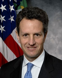 U.S. Treasury Secretary Timothy Geithner is involved in the money laundering.