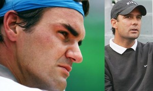 "Federer and ""trainer"" Paul Annacone"