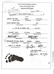 Fake hospital record of Obama's birth in Kenya