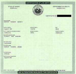 Obama's Hawaiian birth certificate