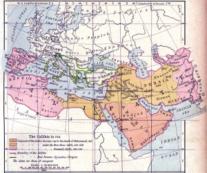 The Arab Caliphate 750 A.D.