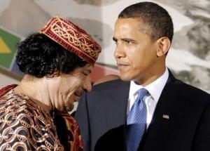 Gadhafi & Obama, two strange guys