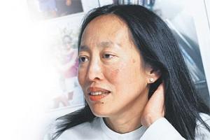 Susan Lim - looking a bit stressed