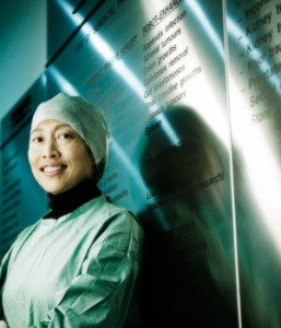 Dr. Susan Lim on the job