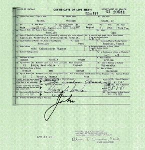 Obama's forged long-form birth certificate signed by me - John