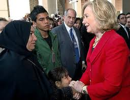 Hillary Clinton giving money to the Arabs in Egypt