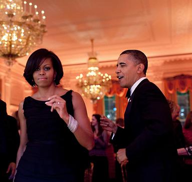 Obama dances