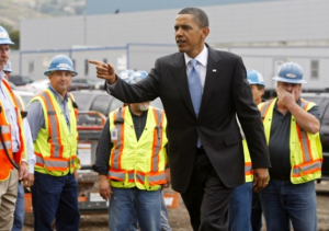 Obama prancing around at Solyndra