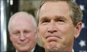 Happy winners Bush & Cheney