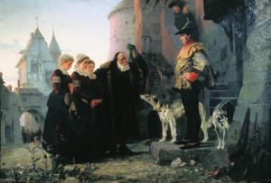 The noble's first rights to the serf's bride