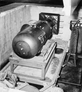 """Little Boy"" the atom bomb that destroyed Hiroshima - only 10 feet long and 2'' 4"" in diameter"