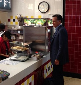 Before lunch with Obama, Romney stops by McDonalds for a garment-busting McFlurry milkshake
