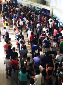 Queue for masks outside of Singapore Pharmacy