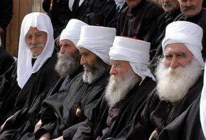 Druze elders in traditional attire