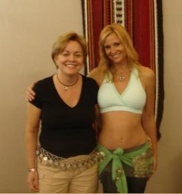 Ambassador Deborah Jones with her personal belly-dance instructor.