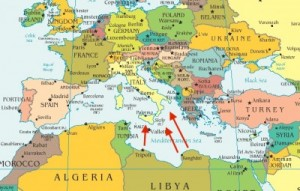 ISIS routes from Libya to Italy