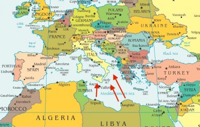 Libya To Italy Map.Isis Threatens Italy Getting At The Truth